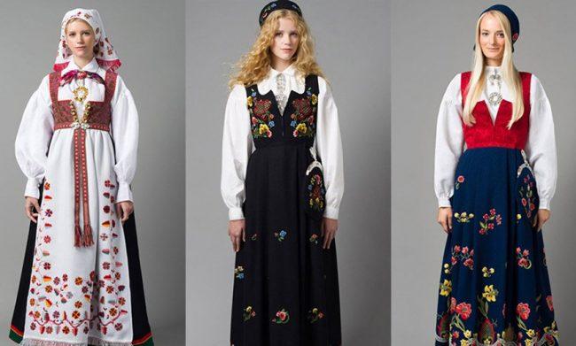 национальный костюм bunad