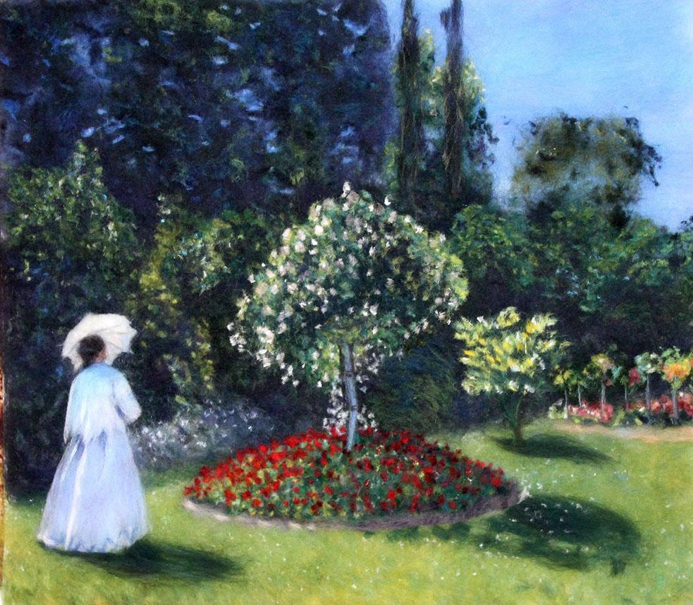 «Дама в саду», Клод Моне