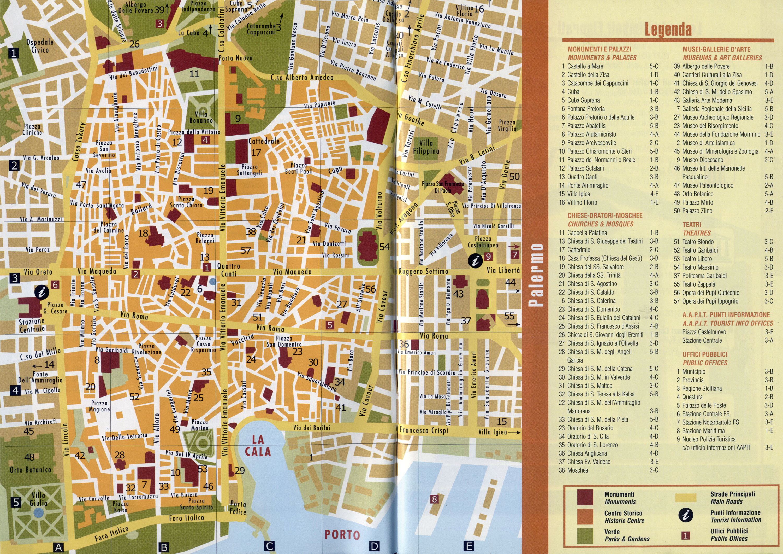 Карта Палермо