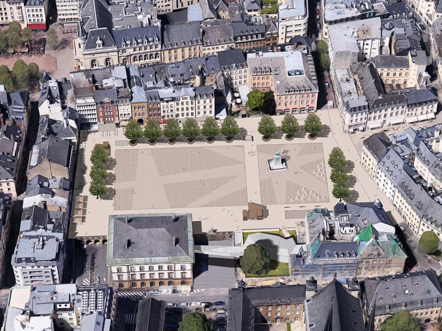 Площадь Гийома II, Люксембург