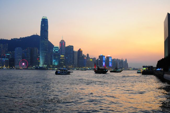 набережная Гонконг