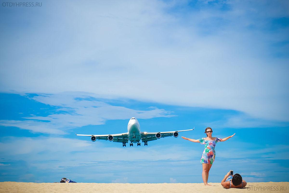 пляж с самолетами